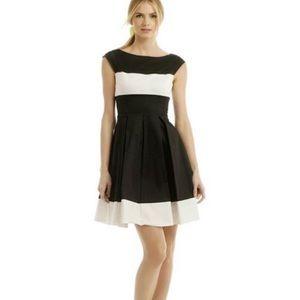 Kate Spade Gayle Dress Black & White Silk